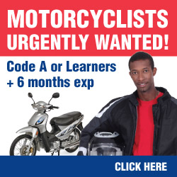 motorbike driver jobs gp